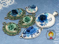 Polymer Clay Sculpted Roses with Embroidery free tutorial by Kalinka Polinka