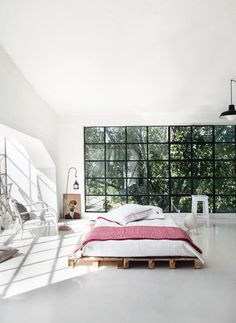 Dreamy white industrial loft