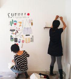 Nidi Natsumatsuri Summer Festival Exhibition (Group Show)with artists Hello Sandwich, Mogu Takahashi, SWEETCH/笠尾美絵, Yamazaki Miho 山崎美帆Nidi gallery, Tokyo, Japan7-16 July, 2011