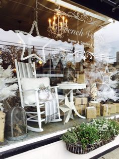 A Vintage Christmas...2015 store window display!