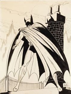 Bob Kane - Large Vintage Batman Specialty Illustration Original Art (dated Frankly, this may be the - Available at 2008 August Vintage Comics &. I Am Batman, Batman Comics, Dc Comics, Bob Kane, Classic Comics, Comic Book Artists, Vintage Comics, Geek Culture, Batgirl