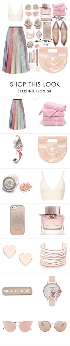 """""""Acrylic bag"""" by puljarevic ❤ liked on Polyvore featuring Gucci, Brooks Brothers, Cult Gaia, nk, Burberry, Ted Baker, Alexis Bittar, RIPNDIP, Olivia Burton and So.Ya"""