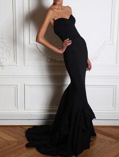 Beautiful black mermaid style dress.