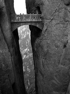 The Bridge of Immortals: Huanghsan, China.  I can't believe it exists.