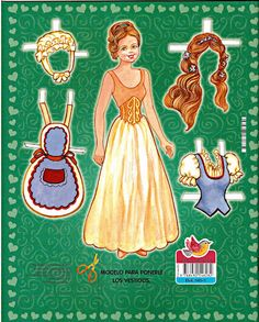Snow White (with golden hair) : A Princesas Paper Doll | Gabi's Paper Dolls