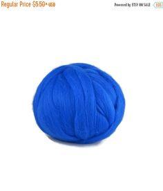 SALE Merino wool roving 19 micron: peacock by DivinityFibers