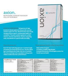 We continually want to provide new tools and resources that make it easier for you to build your Xyngular business.  This week we have an updated Axion Product Sheet, complete with all the updated packaging and branding.
