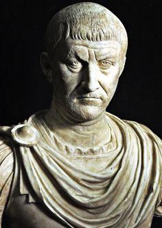 Ritratto di tetrarca, III d.C. Galleria degli Uffizi, Firenze. Cultura romana