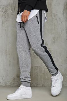 Product Name:Contrast Stripe Sweatpants, Category:CLEARANCE_ZERO, Price:19.9