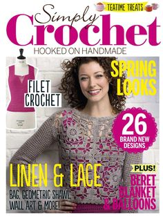 Get your digital subscription/issue of Simply Crochet Magazine on Magzter and enjoy reading the magazine on iPad, iPhone, Android devices and the web. Crochet Gratis, Crochet Chart, Crochet Stitches, Free Crochet, Knit Crochet, Crochet Patterns, Crochet Round, Simply Knitting, Simply Crochet