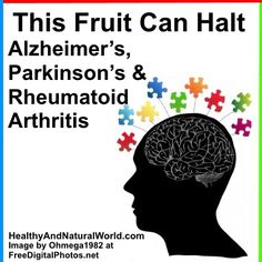 This Fruit Can Halt Alzheimer's, Parkinson's and Rheumatoid Arthritis: pomegranate, or more specifically the polyphenol/antioxidant called punicalagin.