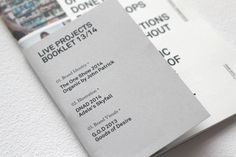 Live Project Booklet on Behance