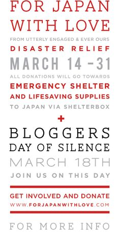 forjapanwithlove.com --- 03.18 - Bloggers Day of Silence - FOR JAPAN WITH LOVE <3
