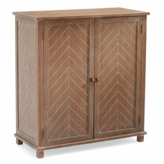 Cambridge Cabinet - dramatic, incised herringbone pattern with hand-rubbed acid-washed finish, magnetic closures