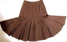 Long Dancing Skirt Size 8 Gored Flared at Bottom Maakif Brand Milk Chocolate $29.50 #Dancing #Maakif  at JustLuvTreasures.com