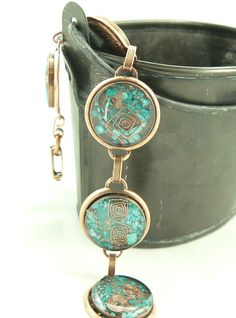 Orgone Energy Bracelet - Turquoise in Copper, starting at $10 in today's Artisan Jewelry auction @ 3PM PT.