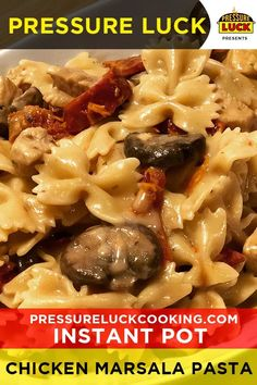 Easy and good Pot Creamy Chicken Marsala Pasta Best Pressure Cooker Recipes, Instant Pot Pressure Cooker, Slow Cooker, Pressure Cooker Chicken Marsala Recipe, Instant Cooker, Chicken Marsala Pasta, Chicken Marsala Crockpot, Pots, Creamy Chicken
