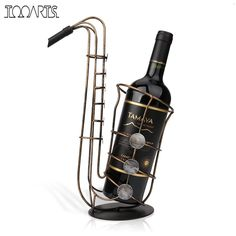 Tooarts Metal Sax Wine Rack Beautiful Crafts Artwork Gift Wine Holder Figurines Creative Wine Bottle Stand Practical Decoration-in Wine Racks from Home & Garden on Aliexpress.com | Alibaba Group