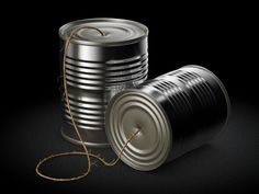 Tin Can Telephone Icon by Philipp Datz