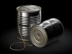 Tin Can Telephone Icon by Philipp Datz