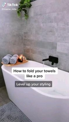 Amazing Life Hacks, Simple Life Hacks, Useful Life Hacks, How To Fold Towels, Folding Bath Towels, 1000 Lifehacks, Everyday Hacks, Diy Crafts Hacks, Diys