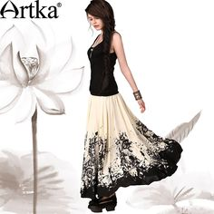 Find More Information about Artka Women'S Chiese Style National Splash Ink Print Flying Expansion Bottom Ankle Length Ball Gown Full Skirt QA10643C,High Quality print cocktail dress,China dress multi Suppliers, Cheap dresses embroidered from Artka on Aliexpress.com