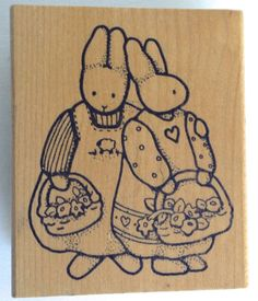$12.00. NEW-DAISY-KINGDOM-2-BUNNIES-BASKETS-FLOWERS-HEARTS-SHEEP-STAMP-1988-DRESSES-R19