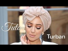Discover recipes, home ideas, style inspiration and other ideas to try. Turban Hijab, Turban Mode, Turban Tutorial, Hijab Style Tutorial, Doek Styles, Head Scarf Styles, Hair Styles, Turbans, Hair Wrap Scarf