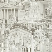 Paris Photo Grey/Cream Wallpaper