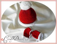 Custom Sparkling Knit Red and White christmas by CandyDressShop, $28.00