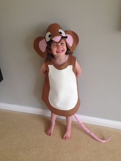My little gruffalo mouse. When you can't find a mouse costume anywhere, what do you do? Make it yourself of course. So pleased with how it turned out :)