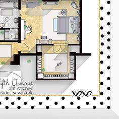 Gossip girl apartment floor plan tv show floor plan for Gossip girl apartment floor plans
