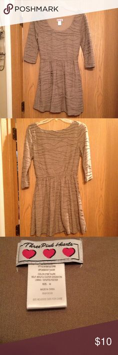 💐💐Dress💐💐 Heathered Brown dress.  In great condition Three Pink Hearts Dresses