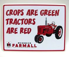 I guess. I like John Deere but Tony's Great Grandfather is Cyris Mccormick. Tractor Bedroom, Tractor Nursery, Case Tractors, Farmall Tractors, Red Tractor, Tractor Decor, Tractor Mower, Tractor Birthday, 2nd Birthday