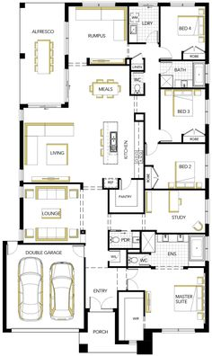 Contemporary Designed House Floorplan Photo - Matisse by Carlisle Homes