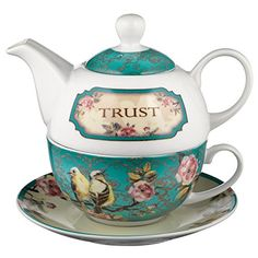 Trust in the Lord Collection Tea-for-One Set – Proverbs 3:5 $ 16.24 Tea-For-One Sets Product Features Teapot: 14 Oz. Capacity Teacup: 8 Oz. Capacity – 4 1/4 Inch Diameter Rim Set: 6 Inch Tall Ceramic Lead & Cadmium-Free Glaze Microwave & Dishwasher Safe Gift-Boxed Manufactured in China Tea-For-One Sets Product Description The Trust in the Lord Collection features Scripture verse from Proverbs and a design […] http://www.teasetsale.com/trust-in-the-lord-collection..