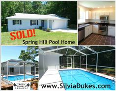 Spring Hill Pool Home Sold by Silvia Dukes