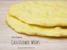 the original cauliflower wrap recipe (paleo, grain and dairy free!) food, pizza crust, healthy, low calorie