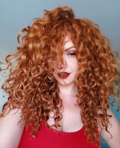 40 Undeniably Pretty Hair Style For Curly Hair - Page 4 of 4 - Stylish Bunny red hair styles 40 Undeniably Pretty Hair Style For Curly Hair - Page 4 of 4 Curly Hair Styles, Curly Hair With Bangs, Short Curly Hair, Wavy Hair, New Hair, Natural Hair Styles, Curly Ginger Hair, Curly Ponytail, Hair Bangs