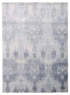 Ikat Bamboo Blue by The Rug Company