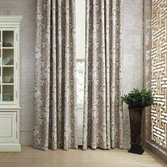 Rococo Grey Floral Print Eco friendly Curtain   #curtains #decor #homedecor #homeinterior #grey
