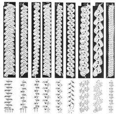Crochet Edgings Ideas - Her Crochet Crochet Cord, Crochet Motifs, Crochet Borders, Crochet Diagram, Crochet Bracelet, Filet Crochet, Irish Crochet, Crochet Lace, Crochet Stitches