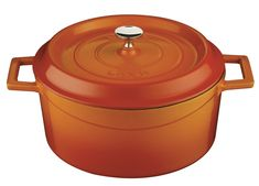 Lava Signature Enameled Cast-Iron Round Dutch Oven - 4-3/4 Quart, Orange Spice -- See this great product.