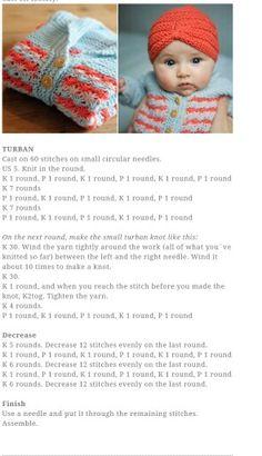 Pickle's Baby Turban Knitting Pattern - Free