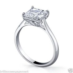 1.25 CT PRINCESS DIAMOND ENGAGEMENT PROPOSAL RING 18K