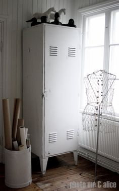 lockers...i love the idea of lockers for a mud room or screened porch..i would prefer them painted black!
