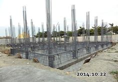 2014-11-22-大底的灌漿完成 脫板模,接下來就讓它乾硬--前半側面