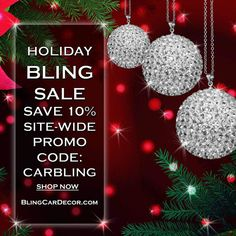 Crystal Ball Rear View Mirror Charm car accessories. Sparkle up your car for the holidays with bling. Save 10% off your order. Enter Coupon Code: CARBLING.