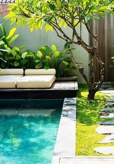 Having a pool sounds awesome especially if you are working with the best backyard pool landscaping ideas there is. How you design a proper backyard with a pool matters. Backyard Pool Landscaping, Tropical Landscaping, Landscaping With Rocks, Tropical Garden, Oberirdische Pools, Cool Pools, Living Pool, Pool Plants, Pool Landscape Design