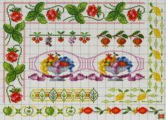 Χειροτεχνήματα: Κεντητά τραπεζομάντηλα κουζίνας / Cross stitch kitchen tablecloths